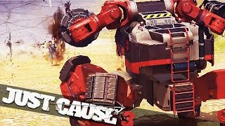 MECH FIGHTS A MECH!!! :: Just Cause 3 Mech Assault Campaign Funny Epic Moments