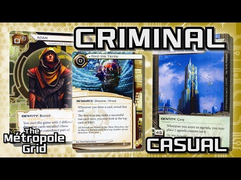 Android: Netrunner // Criminal Adam vs. Fast Advance Titan - Casual