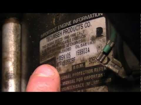 How To Identify Model & Serial Numbers On Snowblower Engines