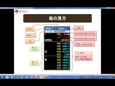 株・【板の見方について】 【株の学校123】