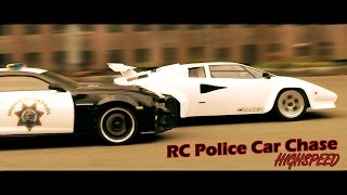 RC Police Car Chase  –  Highspeed Pursuit!  |  Lamborghini, Camaro, Helicopter, Tank | RC Showdown