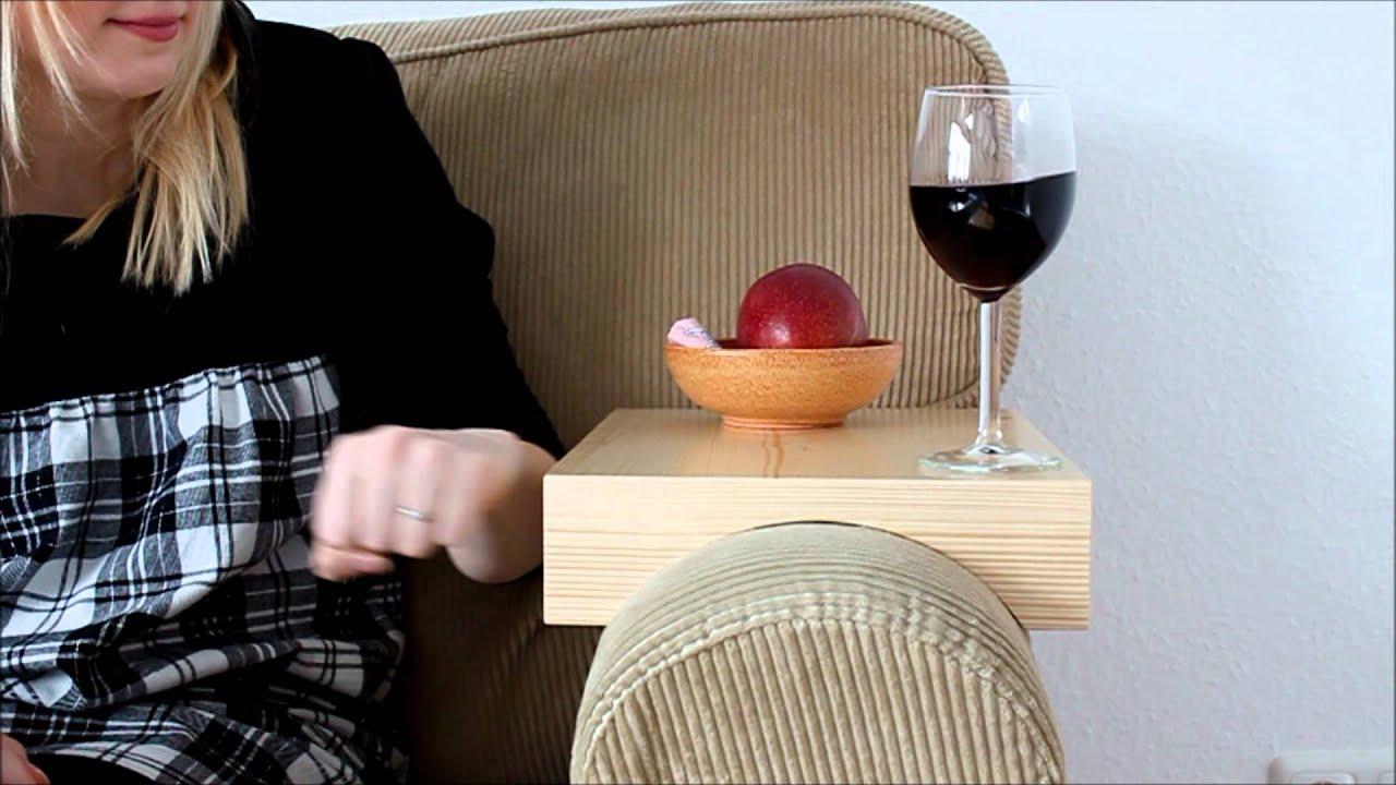 stresstest: armlehnen tablett auf ikea-sofa - youtube