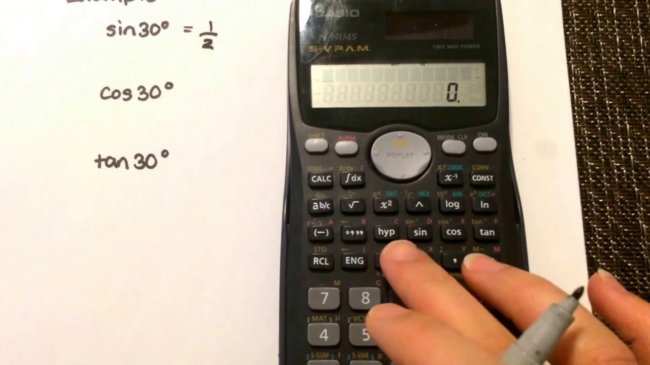 Trigonometry: Calculating the ratio using your calculator Casio fx ...