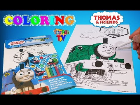 Thomas and Friends Percy Coloring Book Thomas The Tank Engine Colour Episode