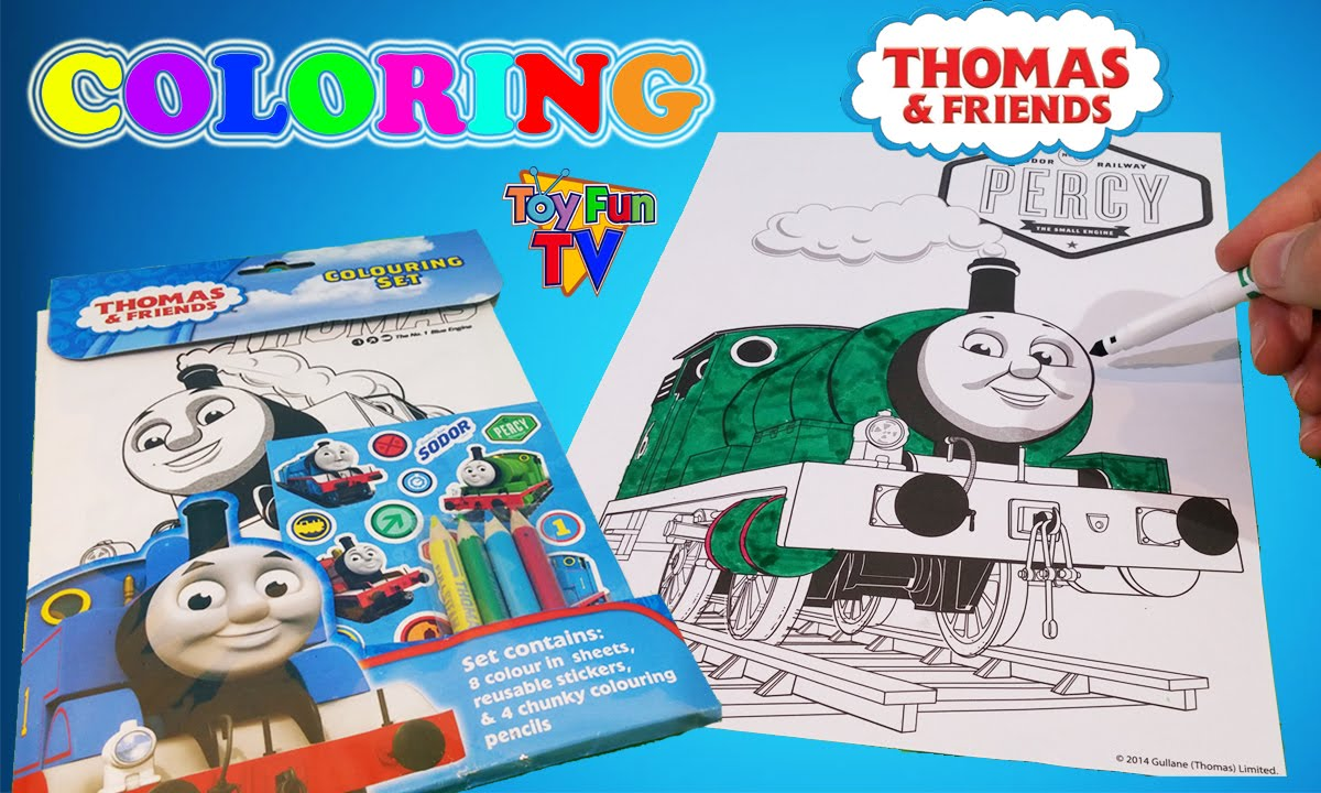 Thomas And Friends Percy Coloring Book The Tank Engine Colour Episode