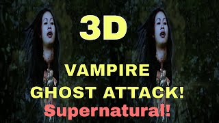 VR video Google cardboard - 3D PARANORMAL GHOST ATTACK and Horror! Side By Side SBS Virtual Reality