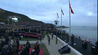 Rebecca Nelson Sings the NewZealand National Anthem at ANZAC Centenary Gallipoli Dawn Service 2015