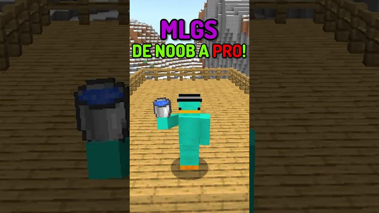 MLGS en Minecraft de Noob a Nivel DREAM! 😂  #Shorts