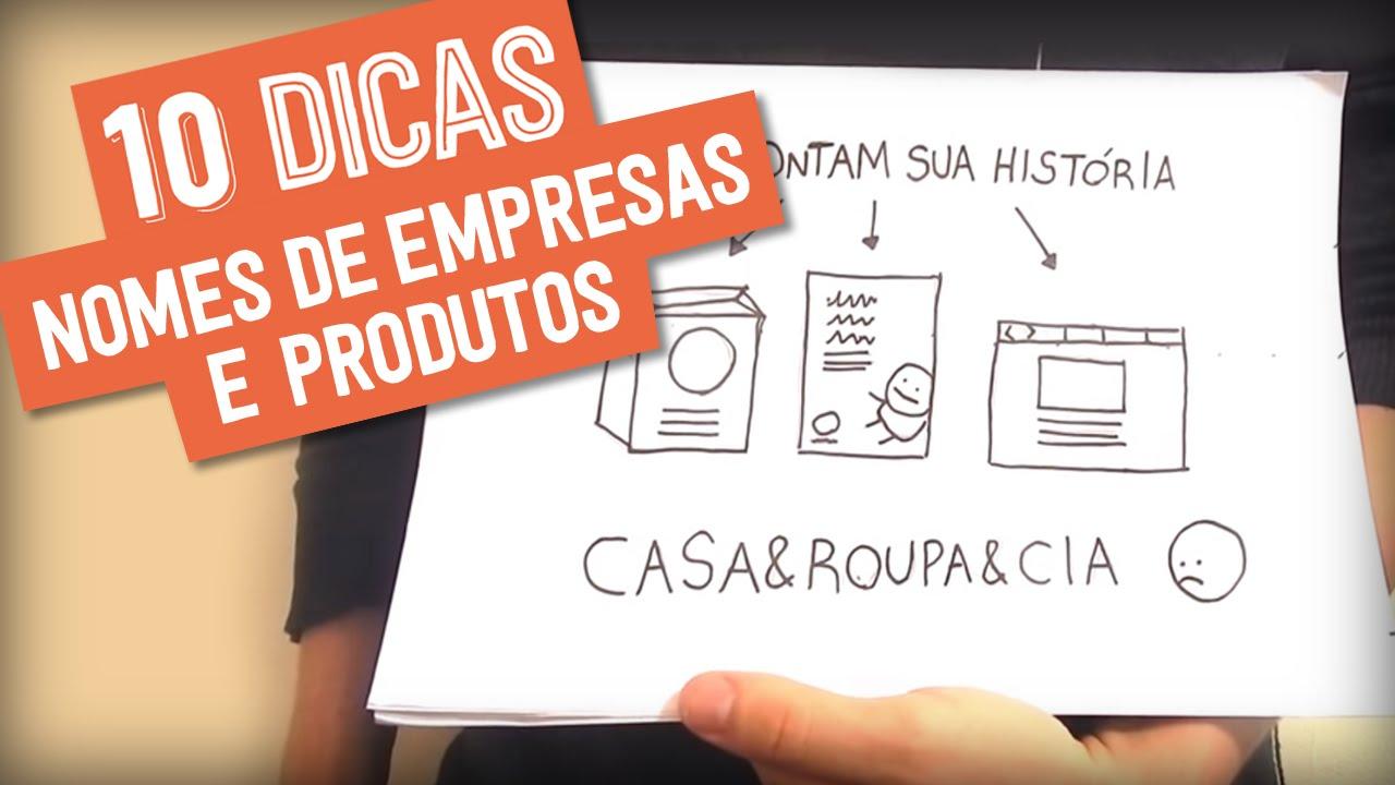 fb1c9fef8 10 DICAS PARA CRIAR NOME DE EMPRESA OU PRODUTO - YouTube