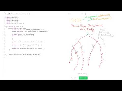 Data Structures: Solve 'Contacts' Using Tries