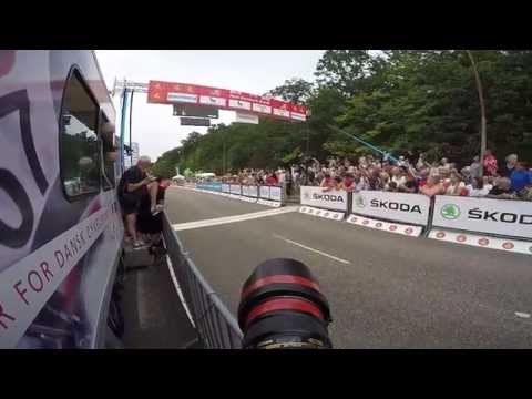 GoPro POV behind the scenes with cycling photographer at the 2015 Tour of Denmark