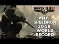 Sniper Elite 4 Speedrun 20 58 World Record
