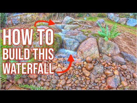 how-to-build-a-small-waterfall- -garden-cascade