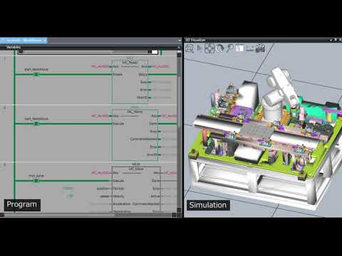 Industry's first simulation software integrating robots and control equipment