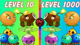 Plants vs Zombies 2 Every Plant LEVEL 10 vs Every Plant LEVEL 1000