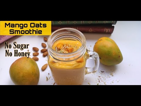Blueberry-Mango Oat Smoothie