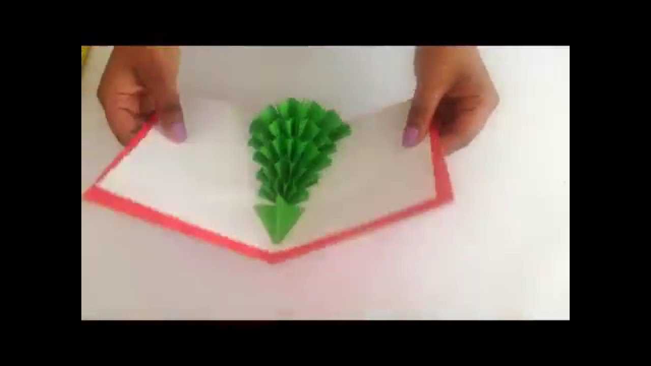 How To Make A 3D Christmas Tree Pop-Up Card