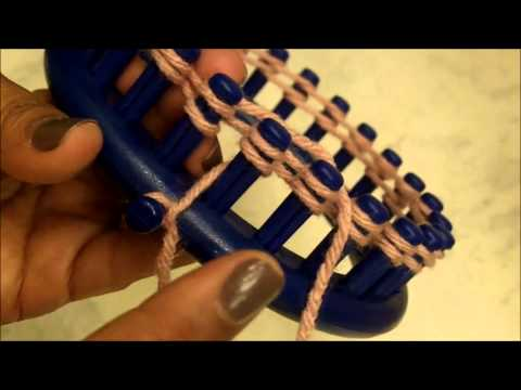 HOW TO LOOM KNIT - Basic Loom Knitting for Beginners 101   Loomahat