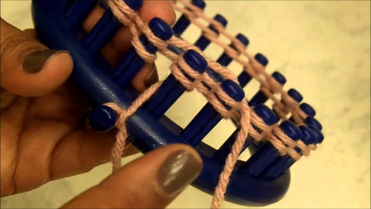 Knitting Instructions For Beginners Cast On : How to loom knit step by knitting for beginners