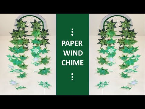 How To Make Simple Wind Chime Out Of Paper - DIY Paper Wind Chime Easy Crafts