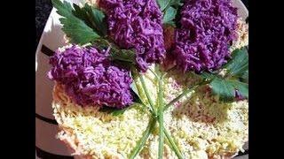 украшение салатов.ветка сирени