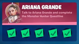 Fortnite Complete 'Ariana Grande' ChaĮlenges Guide - How to Complete the Monster Hunter Questline