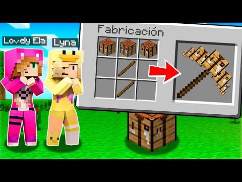 Minecraft pero CRAFTEAMOS PICOS de CUALQUIER BLOQUE 😱 MINECRAFT con LYNA
