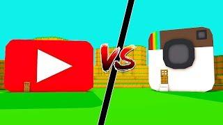 CASA YOUTUBE vs CASA INSTAGRAM NO MINECRAFT !!