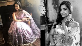 Sonam Kapoor looking gorgeous in  9 crore Saree gifted by Anand Ajuja for photoshoot
