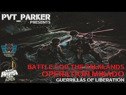 LIVESTREAM - Operation Mikado - Battle for the Falklands W3.5 - Guerrillas of Liberation ARMA 3 Clan