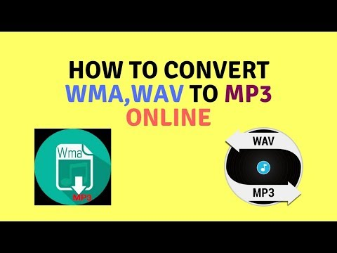 How to convert WMA file to Mp3 online