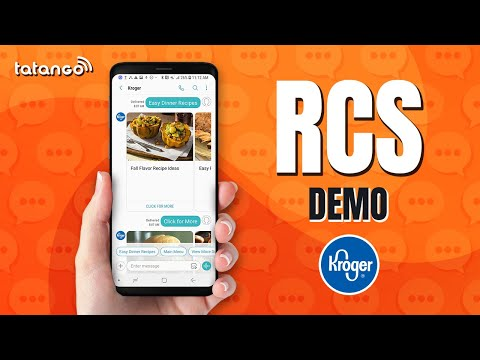 What is RCS Messaging, and How Does It Work? Kroger RCS Demo