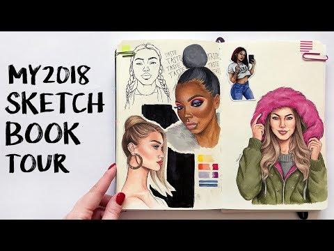 MY 2018 SKETCHBOOK TOUR!