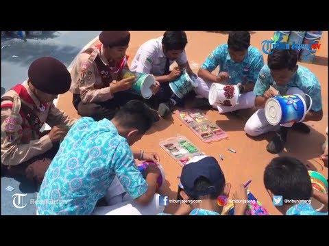 Wali Kota Semarang dan Ratusan Siswa SMPN 37 Semarang Melukis di Media Kaleng Bekas