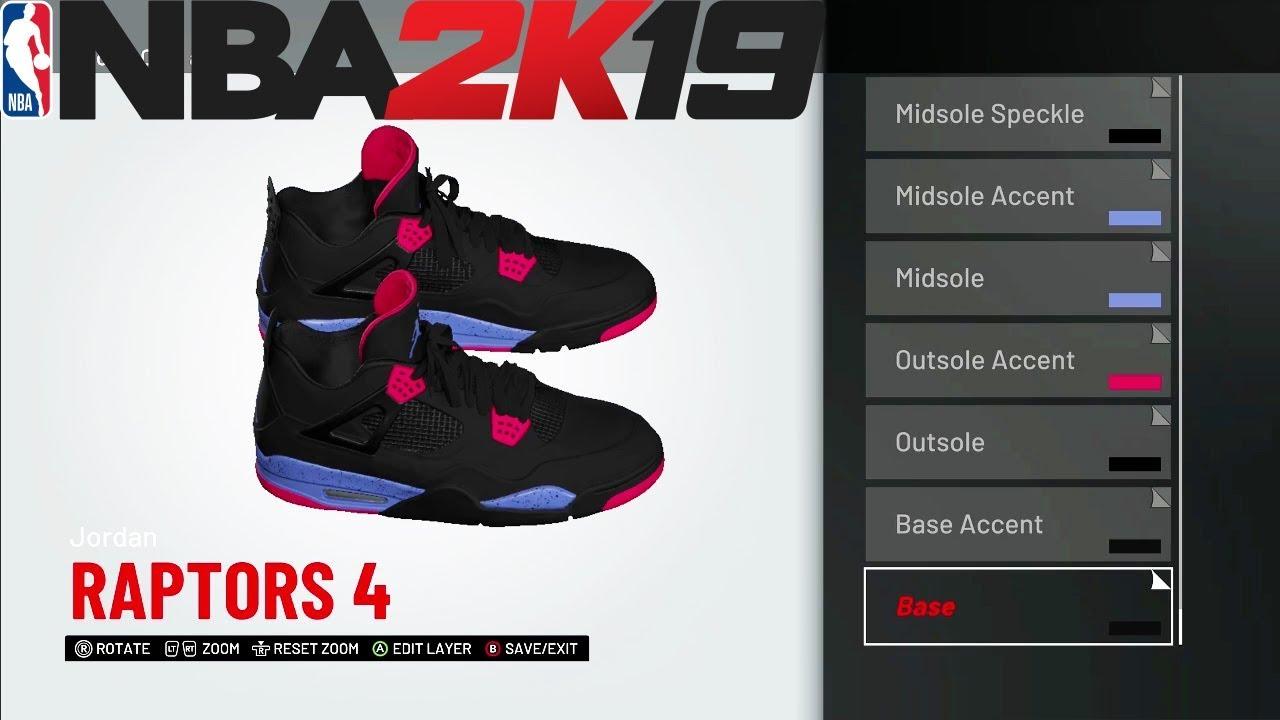 huge discount 23ed6 f0d6e NBA 2K19 Shoe Creator | Jordan 4 Raptors | Xbox One PS4