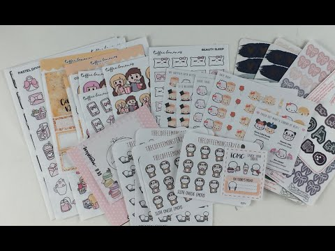 Weekly Planner Stickers/Supplies Haul