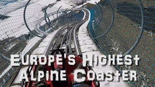 Europe's Highest Alpine Coaster Toboggan at Glacier 3000 Les Diablerets