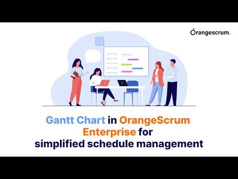 Gantt Chart in OrangeScrum Enterprise for simplified schedule management