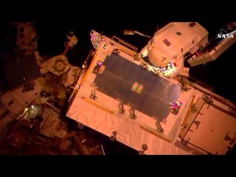 Full US Spacewalk 39 Expedition 50 - Shane Kimbrough, Thomas Pesquet finishing ISS Battery Upgrade