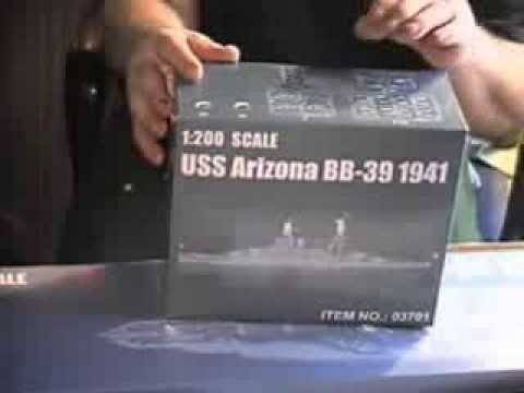 Trumpeter 1/200 USS. ARIZONA Inbox Review
