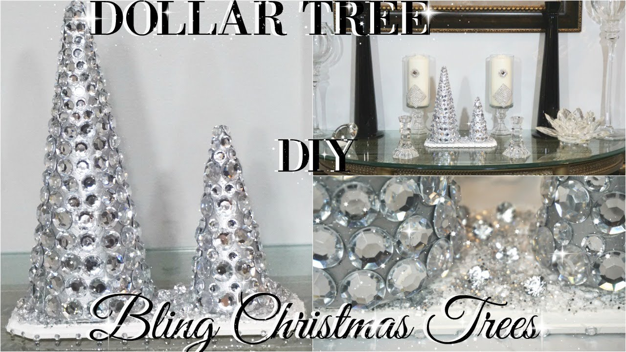 Diy Dollar Tree Glam Christmas Trees Dollar Store Diy Room Decor Diy Home Decor Craft Ideas