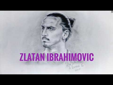 Menggambar Zlatan IBRAHIMOVIC (only 1 pencil drawing)