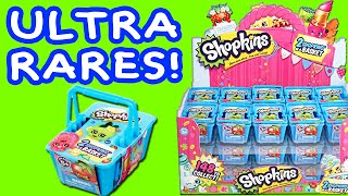 Shopkins Blind Basket Opening with 4 ULTRA RARE Shopkins 20 Blind Bags