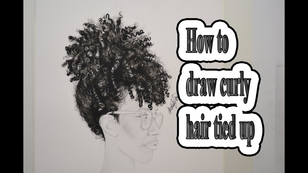 draw curly hair 2
