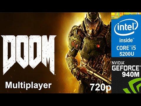 DOOM Multiplayer Beta on HP Pavilion 15-ab032TX,  720p, Core i5 5200u + Nvidia Geforce 940m