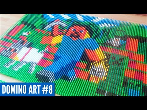 HUGE MINECRAFT ART MADE FROM 6,600 DOMINOES | Domino Art #8