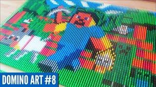 HUGE MINECRAFT ART MADE FROM 6,600 DOMINOES | Domino Art #8