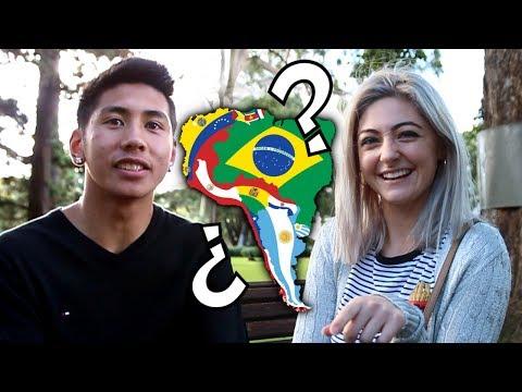 ¿Cuántos países de Sudamérica conocen los extranjeros?