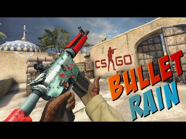 CS:GO - M4A4 | Bullet Rain Gameplay - YouTube