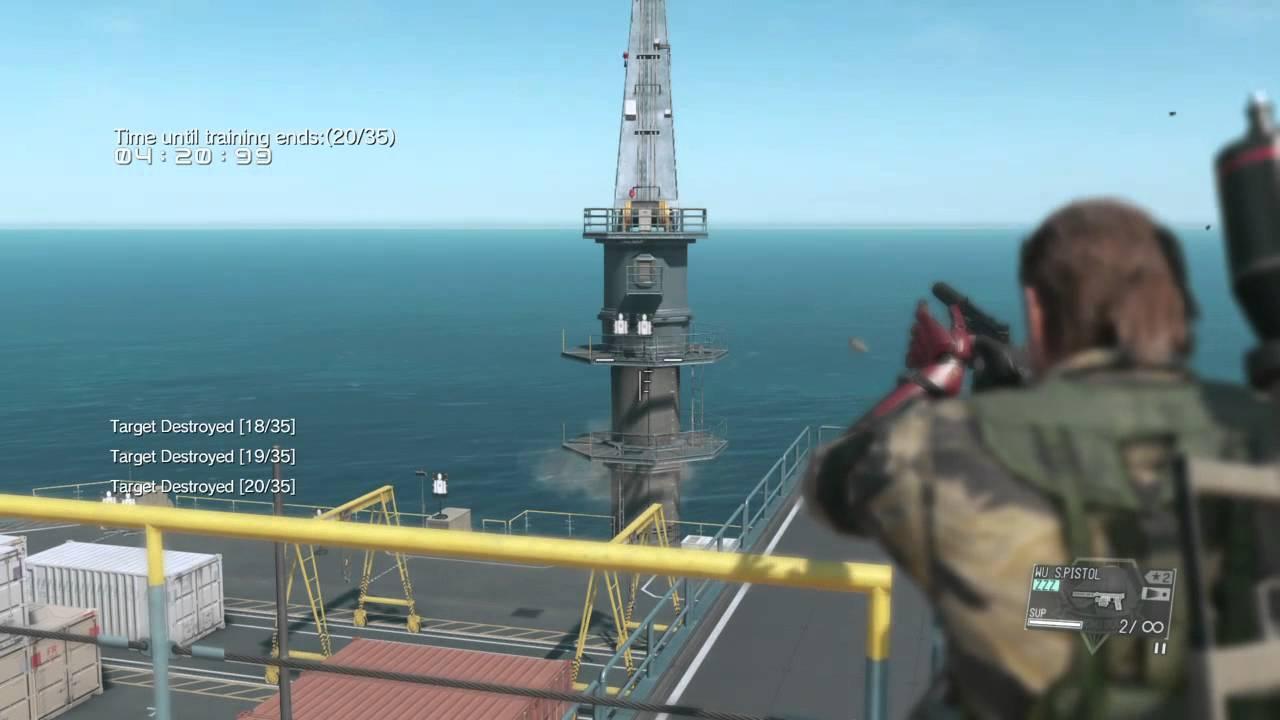 metal gear solid 5 target practice base development platform side